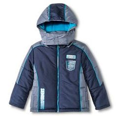 Transformers Boys' Puffer Jacket Grey - out of stock