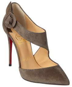 CHRISTIAN LOUBOUTIN Christian Louboutin Sharpeta 100 Suede Buckle Pump. #christianlouboutin #shoes #