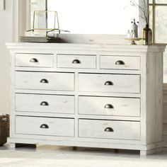 Arien Dresser | Distressed White | Joss & Main | Bedroom 2