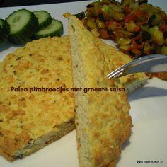 paleo pitabroodjes met groente salsa