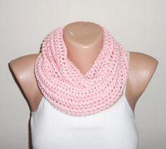 pink knit infinity scarf pink circle scarf loop scarf women
