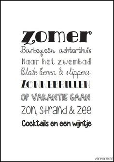 Zomer - #Summer - #Sommer - Buy it at www.vanmariel.nl - Poster € 3,95 - Card € 1,25