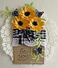 Cheery Lynn Designs Blog: Flower Pot Card with Lisa Blastick