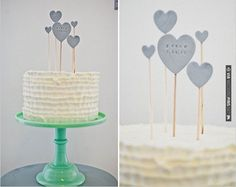 custom heart cake topper, see more here | CHECK OUT MORE IDEAS AT WEDDINGPINS.NET | #weddingcakes
