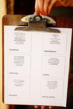 Book of Mormon families scripture study
