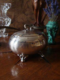 Biedermeier Silber Dose Schatulle Bonbonniere Zuckerdose Behälter Büchse Kasten in Antiquitäten & Kunst, Silber, Silber, 800er- 925er