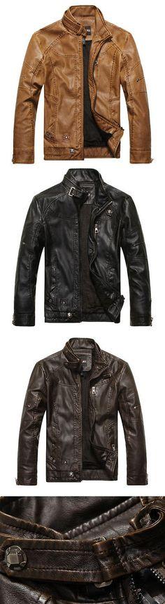 Men Coats And Jackets: Men S Genuine Lambskin Leather Jacket Black Slim Fit Biker Motorcycle Jacket -> BUY IT NOW ONLY: $54.99 on eBay!