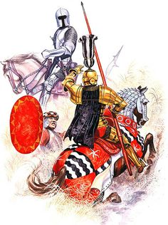 • North italian light cavalryman, c. 1460 • Italian knight, c. 1460