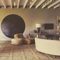 Retro Home Decor Bohemian Style Bedrooms, Vintage Interiors, Art Deco, Retro Home Decor, Vintage Design, Living Room Bedroom, Interiores Design, Decoration, Interior And Exterior