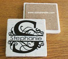 Personalized Coaster Tiles with Cricut Explore | Scraptabulous ...