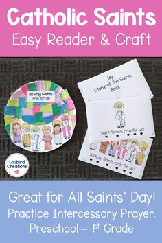 Catholic Saints For Kids, Catholic Schools Week, All Saints Day, Religion Activities, Teaching Religion, Kindergarten Activities, Maria Goretti, Easy Reader, Religious Education