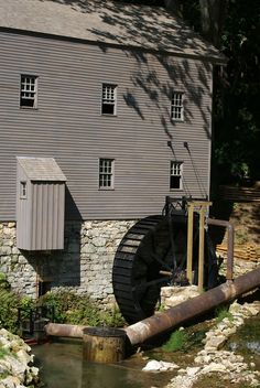 """Beck's Mill Waterwheel & Turbine"" by vince dinoto on Flickr - Beck's Mill is located in Washington County, Indiana.  It is currently being restored.  The waterwheel is a pitch back wheel."