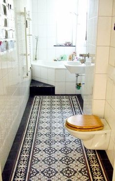 Carreaux de ciment on pinterest ceramica cement tiles - Salle de bain carreaux ciment ...
