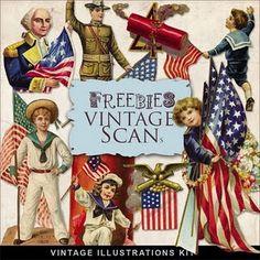 Freebies Vintage Patriotic   Illustrations