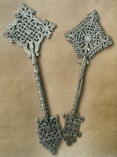 2x Handmade Ethiopian Hand Cross Coptic Christian Ethiopia Orthodox