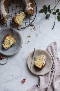 Herbes de Provence & Rose Olive Oil Cake by Beth Kirby Sweet Recipes, Cake Recipes, Local Milk, Olive Oil Cake, Gateaux Cake, Olives, Provence Rose, Food Styling, Food Inspiration
