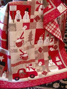 OH MY I **LOVE THIS QUILT**  Just a bit over my ability right now.  But, I'm learning!!!Christmas Quilt......