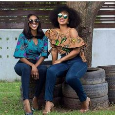 women wearing african print tops, Latest African fashion, Ankara, kitenge, African women dresses, African prints, African men's fashion, Nigerian style, Ghanaian fashion, kente, kaba and slit #fashion #style #ankara #africanfashion #africa
