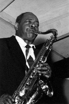 Coleman Hawkins, 1955, at the Newport Jazz Festival.