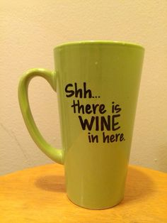For the wine enthusiast! Sharpie coffee mug by pencraftE on Etsy, $10.00