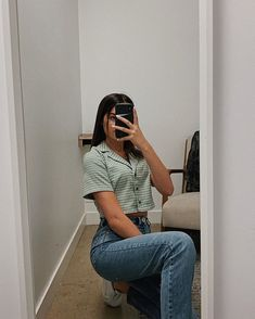 Tell me this ain't cute 😉🥰 annieleblanc annieleblancclothes annieleblanccloset annieleblancstyle vscogirl vsco basic basicbitch Retro Outfits, Trendy Outfits, Summer Outfits, Girl Outfits, Cute Outfits, Fashion Outfits, Camisa Vintage, Mode Streetwear, Mode Inspiration