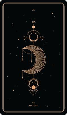 dream pop The Moon Soul Cards Tattoo Sonne, Tarot Tattoo, Kunst Tattoos, Dream Pop, Moon Art, Moon Moon, Luna Moon, Witch Aesthetic, Major Arcana