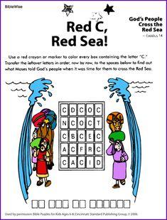Red C, Red Sea (Puzzle Moses) - Kids Korner - BibleWise