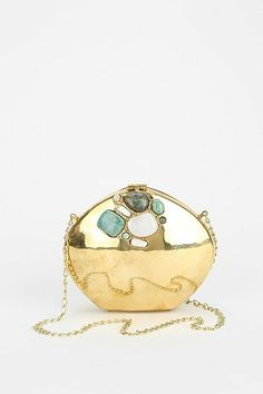 From St. Xavier Tayla Stone-Inset Clutch