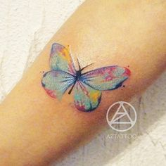 Tattoo more watercolor butterfly tattoo, Watercolor Butterfly Tattoo, Butterfly Tattoo Meaning, Butterfly Back Tattoo, Butterfly Art, Watercolor Tattoos, Butterflies, Tattoos Skull, Body Art Tattoos, Girl Tattoos