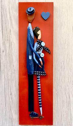 Diy Fashion Hacks, Wall Ornaments, Pallet Painting, Driftwood Art, Rock Crafts, Handmade Home, Stone Art, Clay Art, Diy Paper