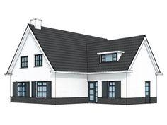 Landelijke witte woning met T-kap