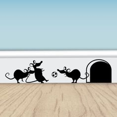 Funny-Football-Mice-Vinyl-Wall-Stickers-for-Walls-Doors-Skirting