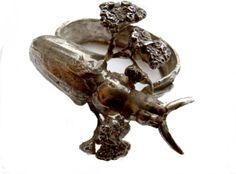 Stacy Hopkins | Amusingold. Long Horn Beetle bronze bracelet. A striking piece for an entomologist bride.