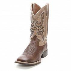 Mens Tony Lama 3R Tan Elephant Print Rough Stock Cowboy Boots