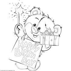 Free download Happy Birthday Teddy Bear Coloring Pages #coloring #coloringbook #coloringpages #teddybear