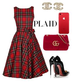 """""""Untitled #891"""" by vane-25 ❤ liked on Polyvore featuring Christian Louboutin, Gucci and Chanel"""