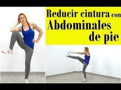 Ejercicios para reducir cintura y abdomen - Abdominales de pie + cadio - YouTube