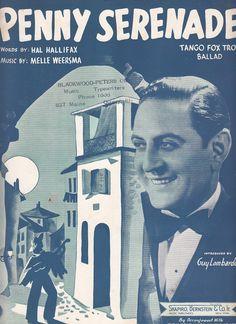 Penny Serenade 1938 Sheet Music Tango Fox Trot Ballad Guy Lombardo