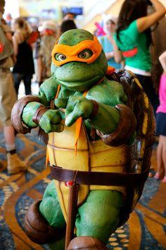 Teenage Mutant Ninja Turtles Michelangelo cosplay. Hell's bells, that's good.