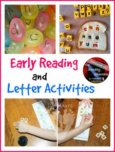 Early Reading  Letter Activities Featured on the Sunday Showcase at Inspiration Laboratories