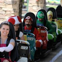 Mario Kart, for real. Good idea for a group date.
