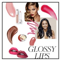 """Glossy lips"" by lizdp ❤ liked on Polyvore featuring beauty, Yves Saint Laurent, Gucci, Charlotte Tilbury, NARS Cosmetics, Burberry and Belmacz"