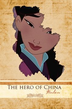 """I've heard a great deal about you, Fa Mulan. You stole your father's armor, ran away from home, impersonated a soldier, deceived your commanding officer, dishonored the Chinese Army, destroyed my palace, and...you have saved us all. """