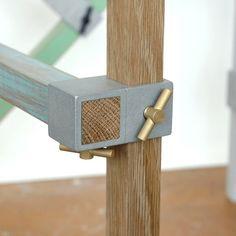 Image of ALEX 90 degree thru junction - natural finish - brass thumb screws