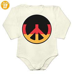 Germany Deutschland Football Peace Sign Baby Long Sleeve Romper Bodysuit XX-Large - Baby bodys baby einteiler baby stampler (*Partner-Link)