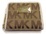 #happy #hot #Michael Kors ZA Bifold Wallet Signature Mirror Metallic Pale Gold
