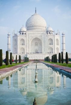 The Taj Mahal in India was built by an emperor as a tomb for his wife who passed away.... Now THAT is love...