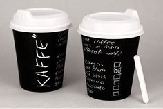 Chalkboard-inspired packaging, designed as a concept for Swedish-run coffee shopKaffe