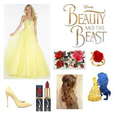 """""""Bell (Beauty and the Beast)"""" by character-fashion-27 ❤ liked on Polyvore featuring Alyce Paris, Casadei, Dolce&Gabbana and Disney"""