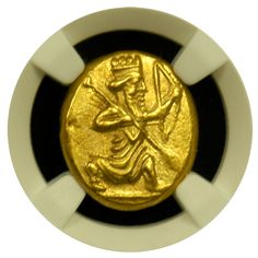 Persian Gold Daric TY3 NGC Mint State Star
